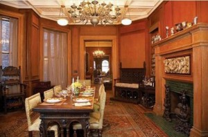 The dining room at 51 East 80th Street