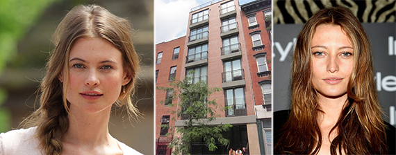 From left: Behati Prinsloo, 643 East 11th Street and Noot Seear