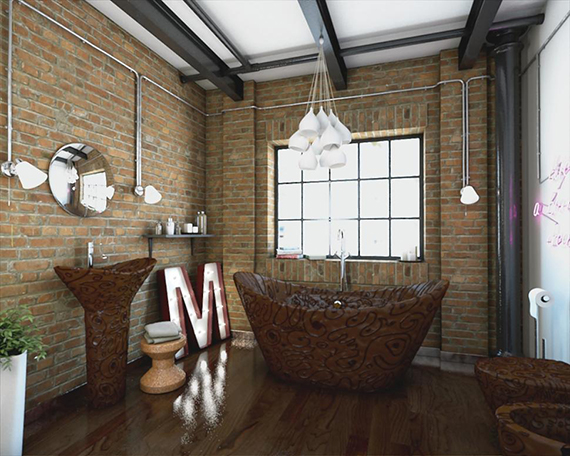 A chocolate bathroom is now for sale for