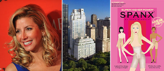 From left: Sara Blakely, 15 Central Park West and Spanx