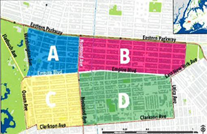 Crown Heights Community District 9 quadrants