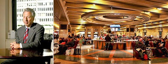From left: Barry Gosin, Grand Central Terminal's dining concourse