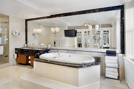 One of the bathrooms at the Pierre Hotel's Presidential Suite