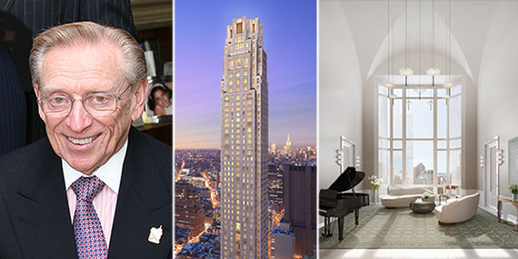 Larry Silverstein and renderings of 30 Park Place