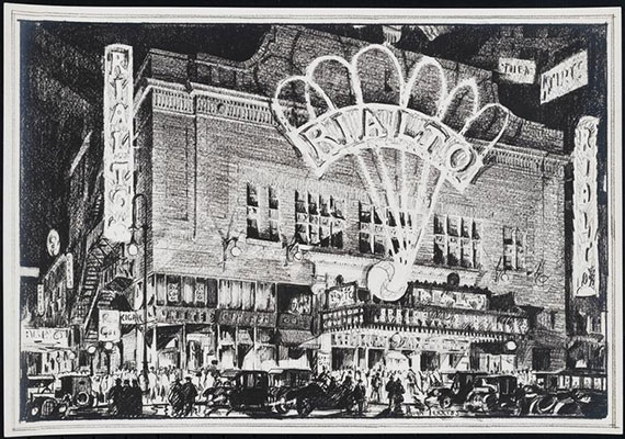 Old theater on Times Square