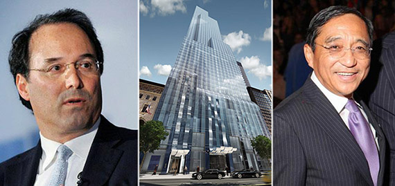 From left: Extell's Gary Barnett, One57 and Silas Chou