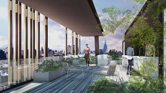 Rooftop at 155 Attorney Street (Credit: Studio V Architecture)