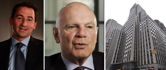 From left: Blackstone's Jonathan Gray, Vornado's Steven Roth, and 1740 Broadway