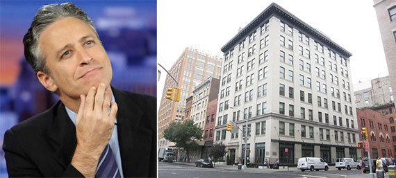 From left: Jon Stewart and 161 Hudson Street