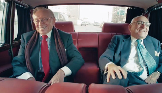From left: Larry Silverstein and Robert A.M. Stern