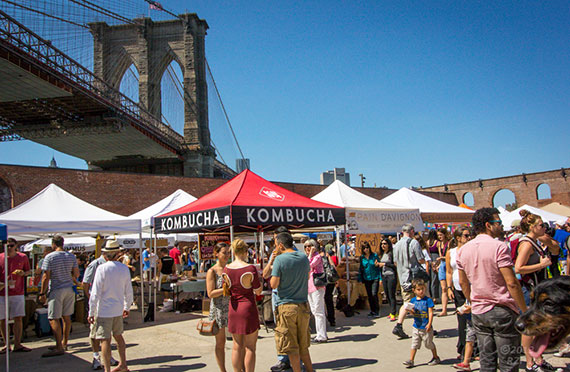 Smorgasburg in Dumbo, Brooklyn (credit: RZF images)