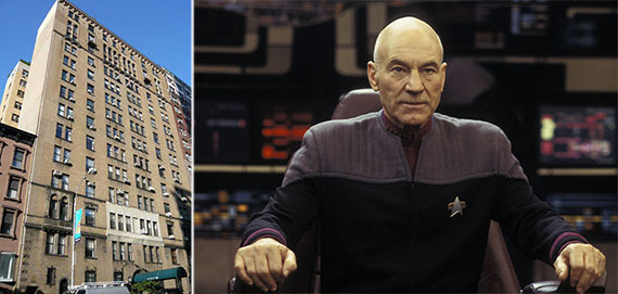 From left: 118 West 79th Street and Sir Patrick Stewart
