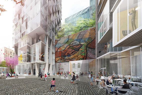 Rendering of East River Plaza at 118th Street (Credit: TEN Arquitectos)