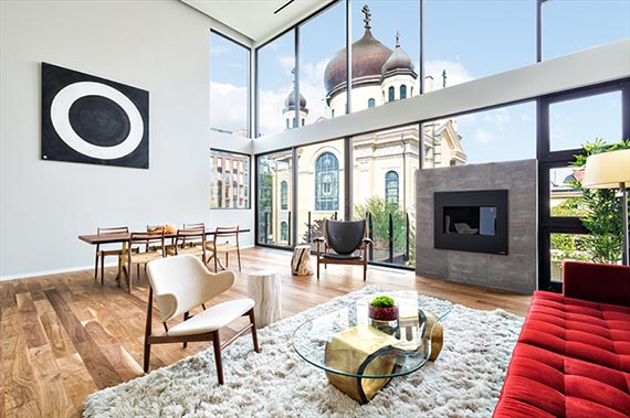 Rendering of a livingroom at 201 North 11th Street
