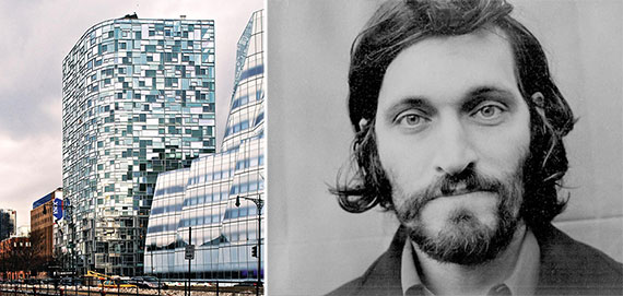 From left: 100 Eleventh Avenue and Vincent Gallo