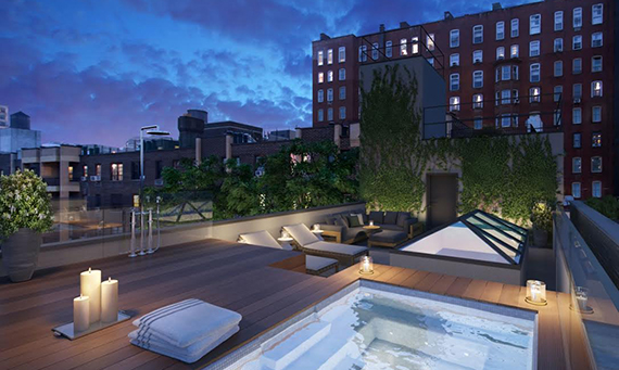 Rendering of the rooftop at 224 West 22nd Street