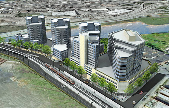 Rendering for River Park Place on the Flushing waterfront