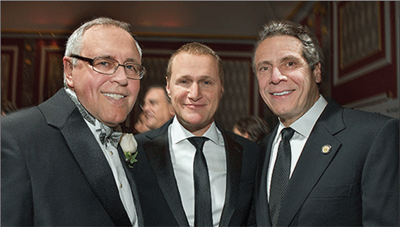 Steven Spinola, Rob Speyer and Gov. Andrew Cuomo at last year's REBNY gala. (Credit: Steve Friedman)