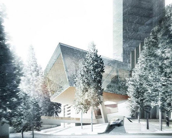 Rendering of a new hotel in the Alps, which could be Europe's tallest tower