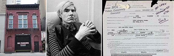 From left: 159 East 87th Street, Andy Warhol and the lease