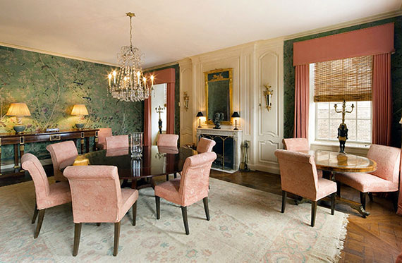 Living room at Roone Arledge's former unit at 778 Park Avenue