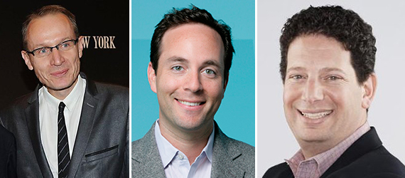 From left: Robert Thomson, Zillow CEO Spencer Rascoff and Trulia President Paul Levine