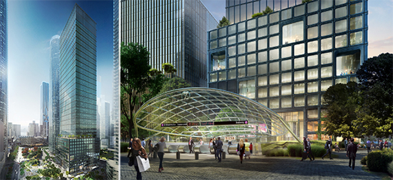 Rendering of 55 Hudson Yards (credit: Kohn Pederson Fox)