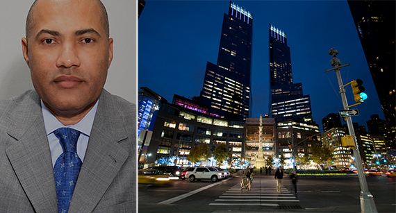 From left: Jacques Jiha and the Time Warner Center