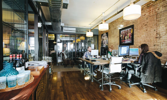 An office at the WeWork location at 1 Little West 12th Street in the Meatpacking District