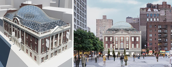 Renderings of 44 Union Square (credit: BKSK Architects)