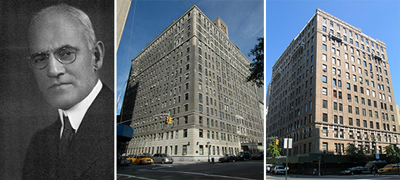From left: Alexander Bing, the Alden at 225 Central Park West and 1000 Park Avenue, both on the Upper East Side