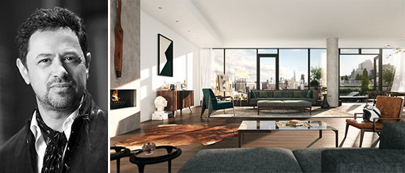 From left: Eran Chen and a rendering of the Flynn at 155 West 18th Street in Chelsea
