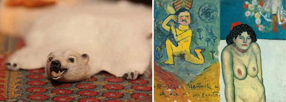 "A bear rug in the world's most expensive doll house and ""La Gommeuse"" by Picasso"