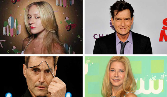 From left: Chloe Sevigny, Charlie Sheen, Uri Geller and Candace Bushnell