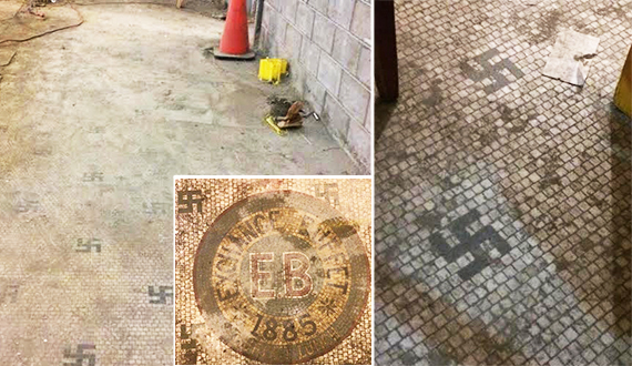 Swastika found at 212 Fifth Avenue