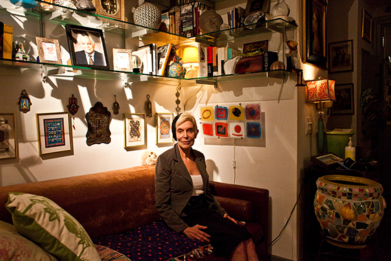 Nancy Sher poses for a portrait in her apartment in the Two Trees apartment complex at 125 Court St., in Downtown Brooklyn, N.Y., on Thursday, November 12, 2015. CREDIT: Bryan Anselm for ProPublica