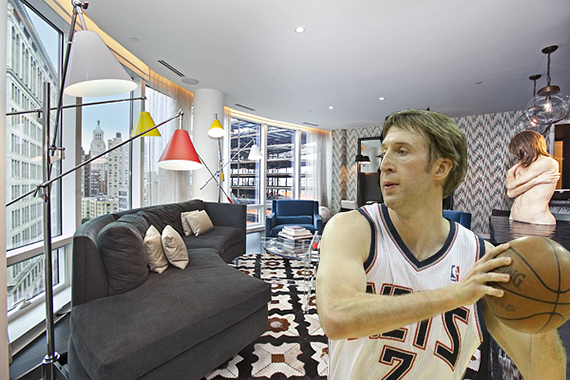 Troy Murphy and his 443 Lafayette Street apartment