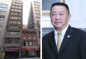 From left: 14 and 16 East 39th Street and Sam Chang