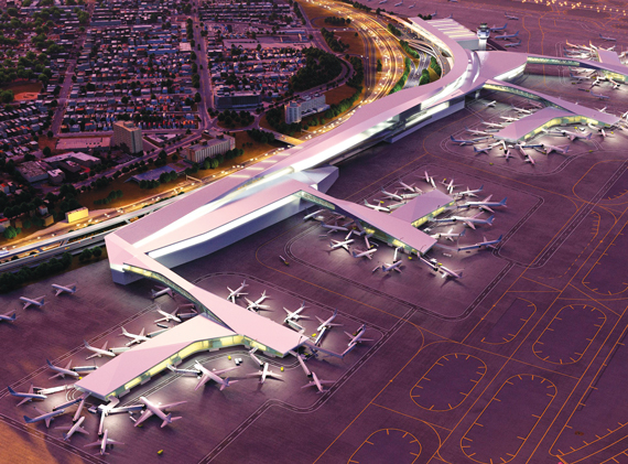 A rendering of the new LaGuardia Airport