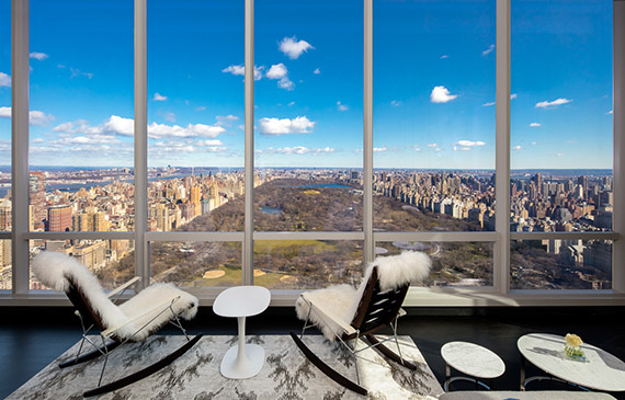 A view from inside One57