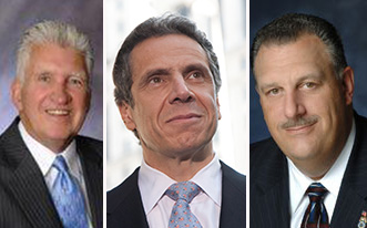 James Cahill, Andrew Cuomo and Gary LaBarbera