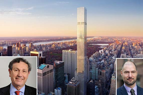 432 Park Avenue in Midtown (inset: Moses Gates and Carl Weisbrod)