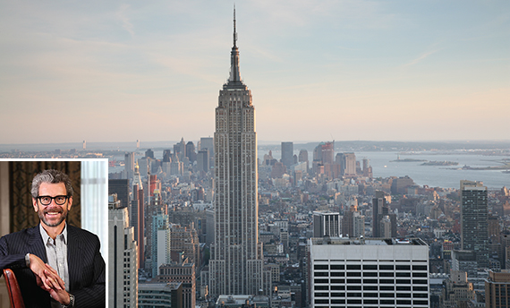 The Empire State Building (inset: Tony Malkin)