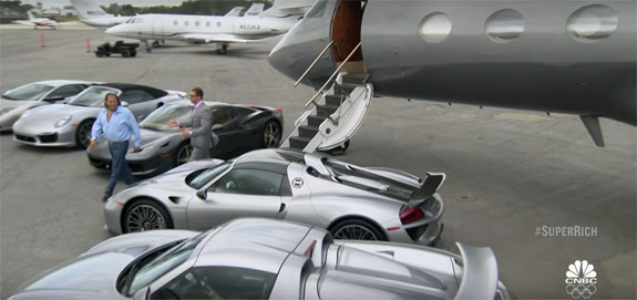 "Gil Dezer and his cars on ""Secret Lives of the Super Rich"""