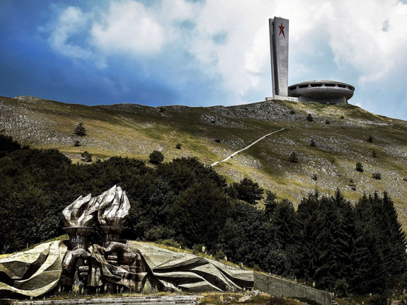the-enormous-ufo-like-spiritual-home-of-the-bulgarian-communist-party-stands-on-a-peak-in-buzludzha-a-mountainous-part-of-the-country