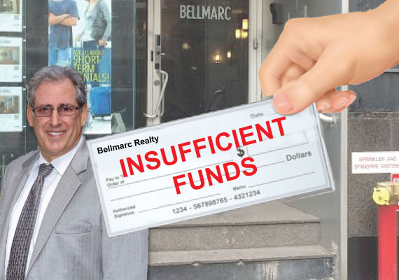Shut down Bellmarc Realty offices (inset: Neil Binder)