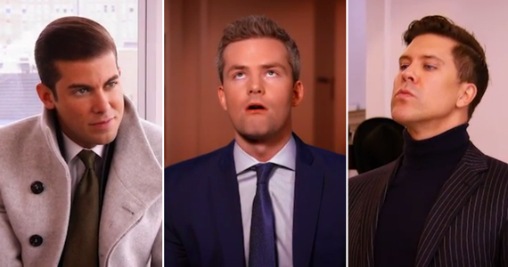 From left: Luis Ortiz, Ryan Serhant and Fredrik Eklund