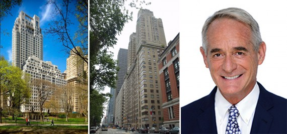 From left: 15 Central Park West, 25 Central Park West and Robby Browne
