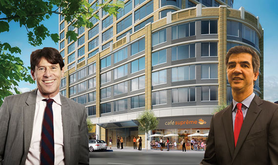 Paul Travis, a rendering of 4650 Broadway (credit: Sherman Acadia Ave LLC/DCP) and Ydanis Rodriguez