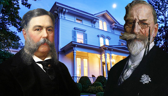 Chester A. Arthur, William Merritt Chase and Arthur's former estate at